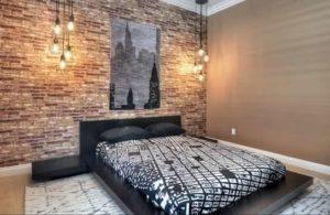 exposed-brick-wallpaper-bedroom