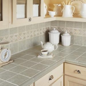 tile countertop kitchen